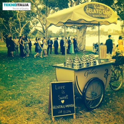 "Our customer ""The Mobile Gelato Cart"" Australia provide (with our #icecream cart #gelatocart) a tasty, colourant-free and preservative-free Italian #gelato to your #wedding guests either between the ceremony and reception or as a dessert... follow link for more information.."