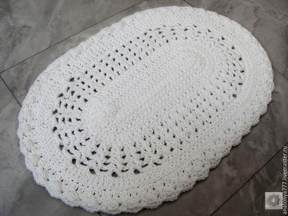 Текстиль, ковры ручной работы. Ярмарка Мастеров - ручная работа. Купить Вязаный коврик ручной работы овальный из шнура Малыш-2. Handmade.
