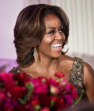 Michelle Obama/Hair looks Beautiful