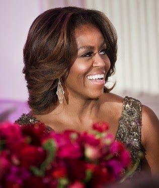 Michelle Obama/Hair looks Beautiful