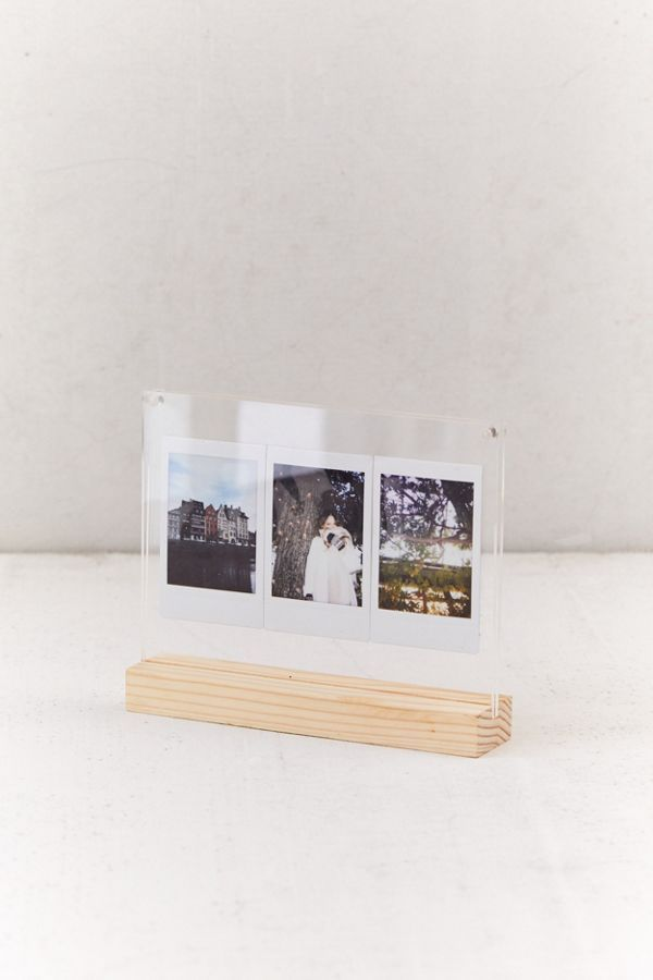 Wood Acrylic Block Picture Frame In 2020 Picture Frames Acrylic Decor Acrylic Picture Frames