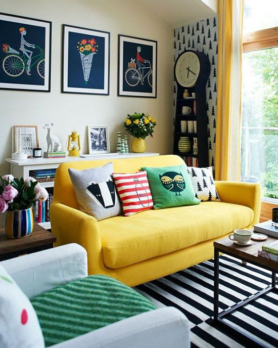 Get The Look Yellow Sofas