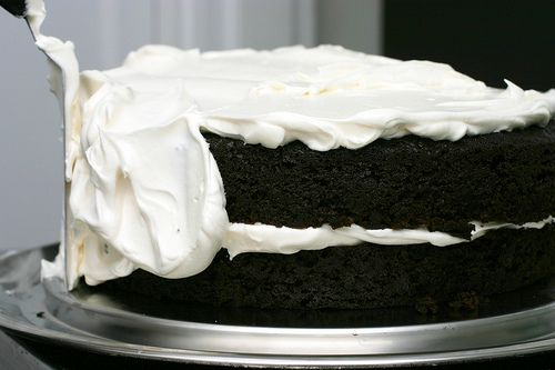 """Homemade Devil Dog, Ding Dong or Hostess Cake (Smitten Kitchen). Combines """"the dreamiest, easiest and most moist chocolate layering cake in the entire world"""" with """"a fantastic recipe for a marshmallow frosting."""" MUST. TRY."""
