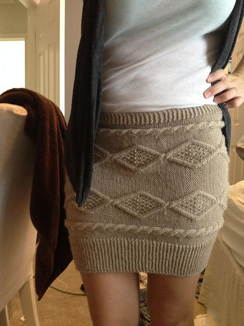 Ravelry knitted skirt!