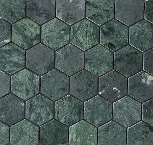 Grønn marmor fra Ulfven 5cm Hexagon #ovnsplate #gulvplate #ektevarme
