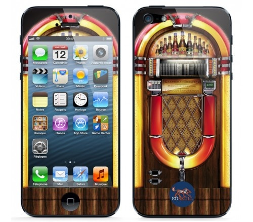 For all the #MusicLovers, here's a #skin that will interest you a lot, turn your #iPhone5 into a #Jukebox !!