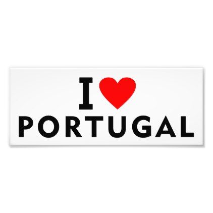 #I love Portugal country like heart travel tourism Photo Print - #country gifts style diy gift ideas