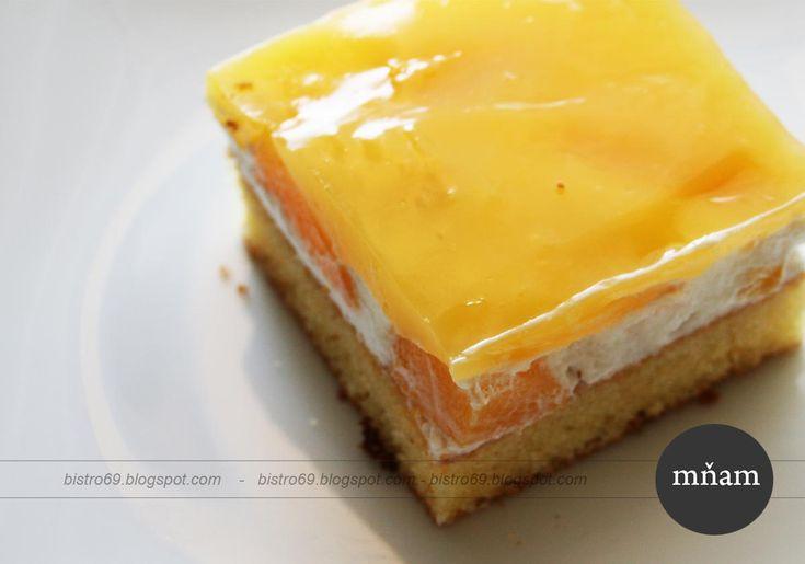 Ovocný broskyňový koláč so želatinou