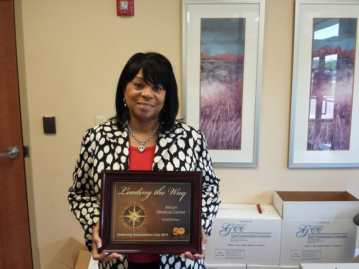 Way to go Atrium Medical Center! Congrats on receiving the Gold level Lifesaving Ambassadors Club award. Congratulations also go to Sharon Howard, Atrium's blood drive chairperson. Atrium hosts five blood drives a year serving the Middletown (home of the Middletown Middies) community.
