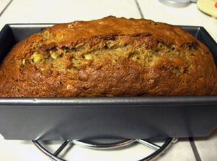 This Extreme Banana Nut Bread is EXTREMELY delicious! Posted by Robin in Coldspring, TX on www.justapinch.com.