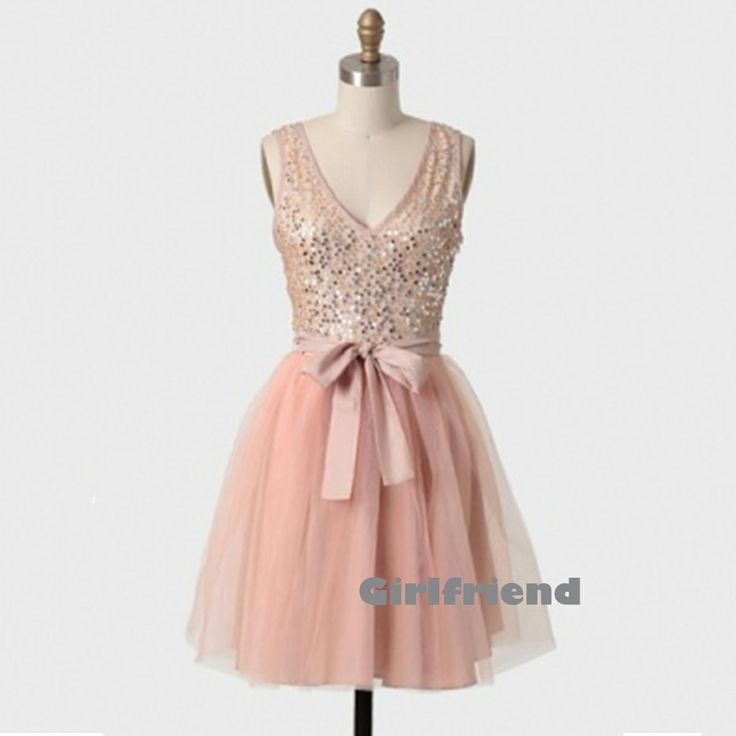 Each of our dress are made to order by hand  Dress code:G0088A  Fabric: Tulle Embellishment: Beading, sequins Silhouette: Short Neckline: Deep V Sleeve Length: Sleeveless Back Details: Zipper-up or lace up Color: see picture  Size: 2,4,6,8,10,12, Custom-made  Each of dress may take ...
