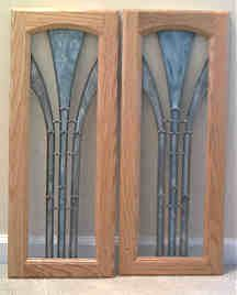 Art Deco Custom Stained Glass   Cabinet Doors