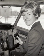 First Officer  Frontier Airlines, 1973    Emily Howell broke through the gender barrier to become the first American woman to fly routinely for a scheduled U.S. commercial airline