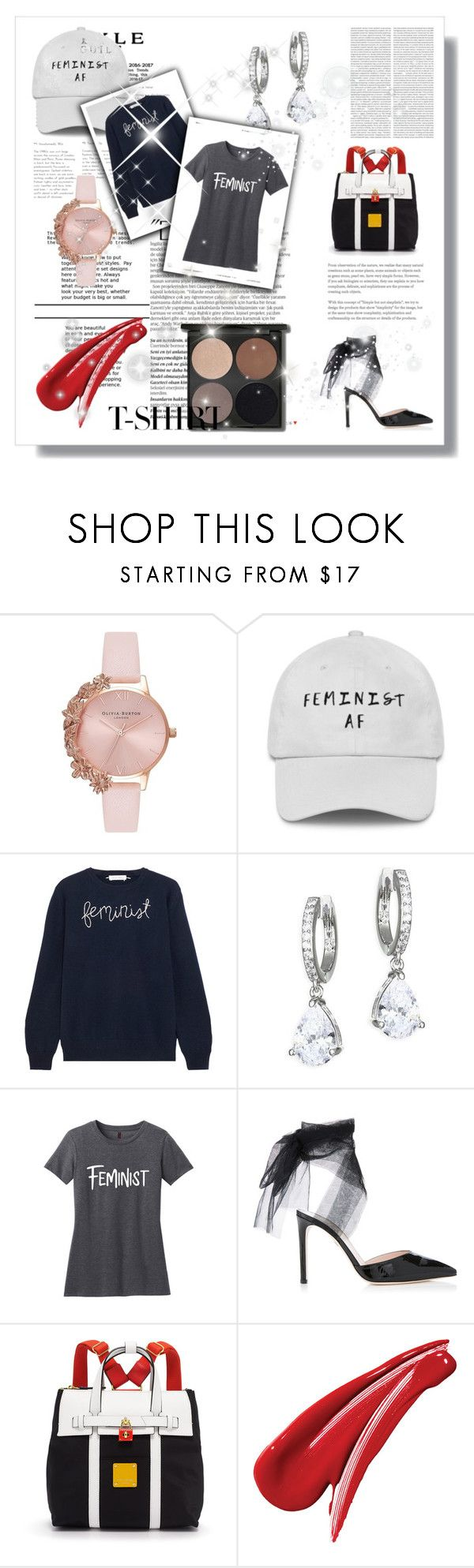 """Dress Up a T-shirt"" by katiephan on Polyvore featuring Olivia Burton, Lingua Franca, Kate Spade, Henri Bendel, Balmain and MyFaveTshirt"