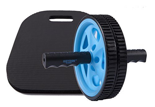 Ab Sculpter Wheel with Large and Thick Knee Pad Mat 1 Recommended Ab Roller Dual Wheel for Best Abs Workout  Top Rated Exercise for Abs Toning * You can get additional details at the image link.