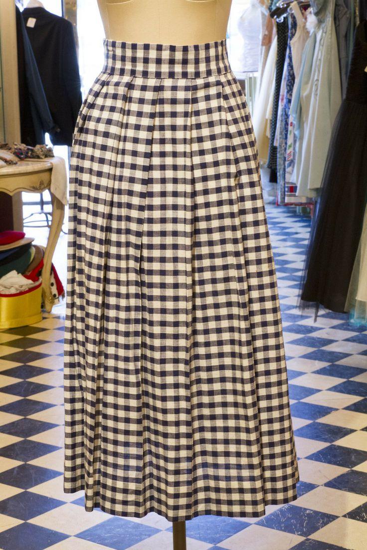 Cabaret Vintage - Blue and White Gignam Ladies Vintage Skirt, $125.00 (http://www.cabaretvintage.com/vintage-skirts/blue-and-white-gignam-ladies-vintage-skirt/)   #vintageskirt  #vintage #dressvintage #shopping #vintagestore #vintagefashion #ilovevintage #vintagelove #vintagegirl #vintageshopping #vintageclothing #vintagefinds #vintagelover #vintagelook #followme #skirtoftheday #ootd #shopitrightnow #instastyle #torontovintage #toronto #queenwest #cabaretvintage
