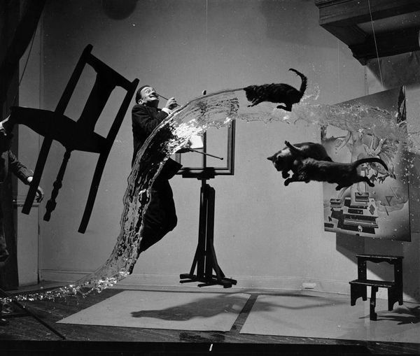Salvador Dalí and Philippe Halsman's 1948 collaboration Dali Atomicus took 28 attempts.
