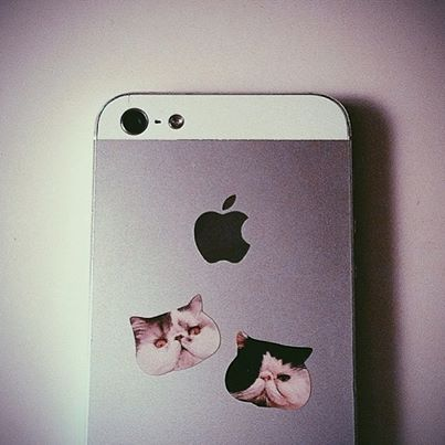 Make stickers of your pets and stick them to your phone or other devices makes