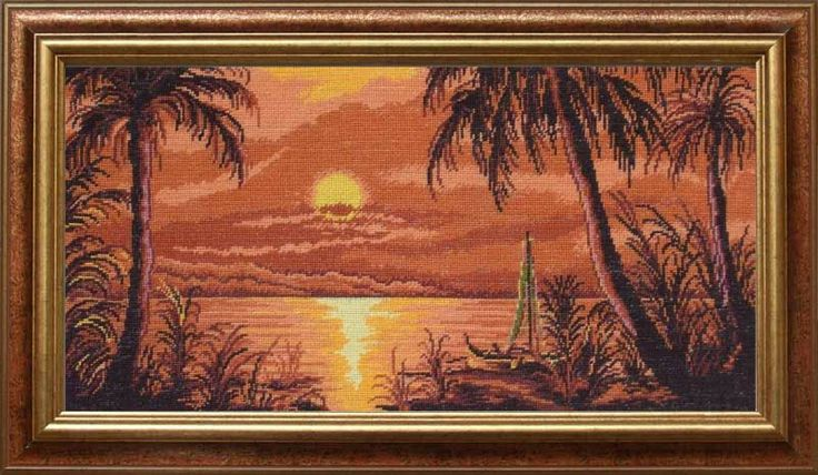 sunset on the Nile - 15x 30 cm