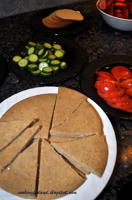 Barley bread  [Cooking Finland: The easiest bread ever! Unleavened Barley bread--Ohrarieska]