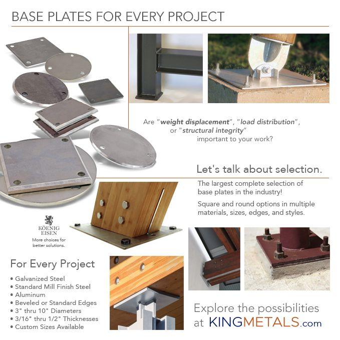 The Largest Complete Selection Of Base Plates In The Industry Plates The Selection Base