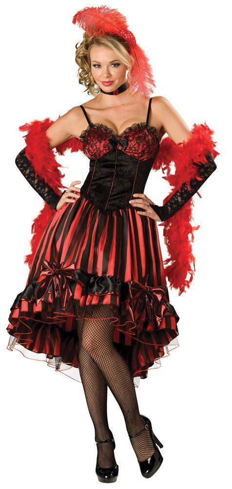elite adult can can cutie saloon girl costume mr costumes - Can Can Dancer Halloween Costume