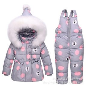19b52f43b9a3 Children s Down Suit Winter Suit Two Kinds Of Girls 1 2 3 Years Old ...