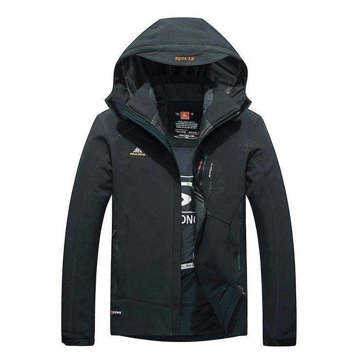 Winter Men soft shell hiking jacket snow waterproof jacket windproof outdoor clothing hiking camping jacket classic coat