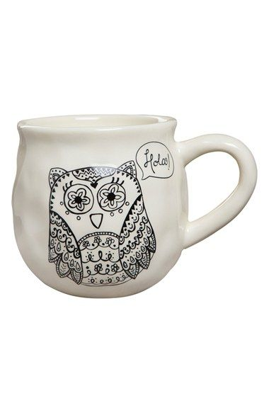 Natural Life 'Happy Owl' Ceramic Mug available at #Nordstrom