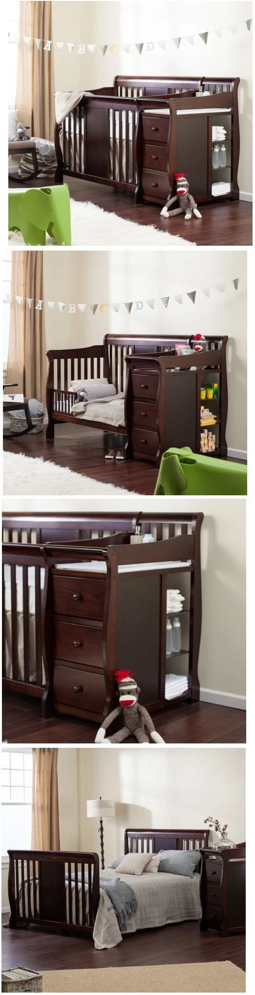 Brookfield fixed gate crib for sale - Baby Nursery Baby Crib With Changing Table Toddler Bed Daybed Full Size Bed Storage Drawers