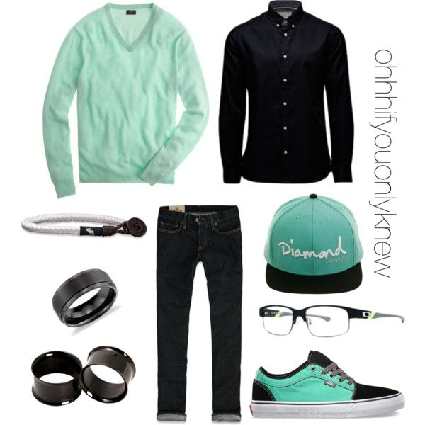 Untitled #185 by ohhhifyouonlyknew on Polyvore featuring moda, Hollister Co., J.Crew, Jack & Jones, Blue Nile and Abercrombie & Fitch