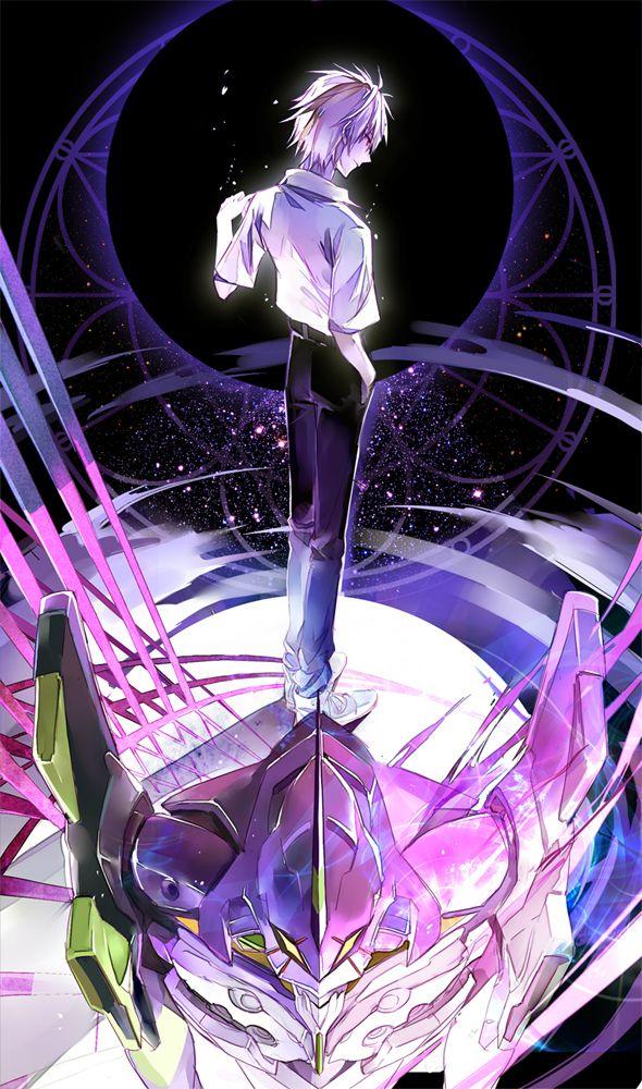 Tags: Anime, Fanart, Neon Genesis Evangelion, Nagisa Kaworu, Pixiv