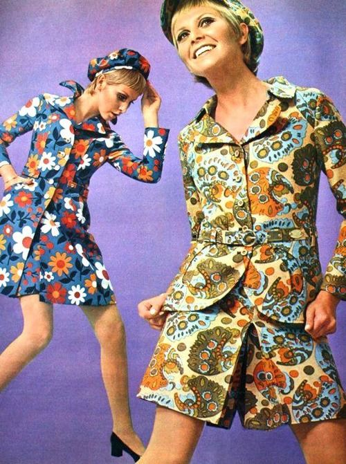 Fashion for Dutch magazine Margriet, February 1968.
