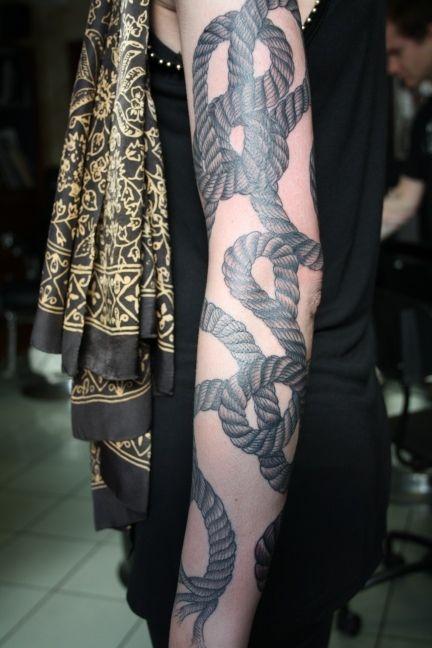 Rope tattoo / TATTOOS / oliver macintosh | Tumblr — Designspiration