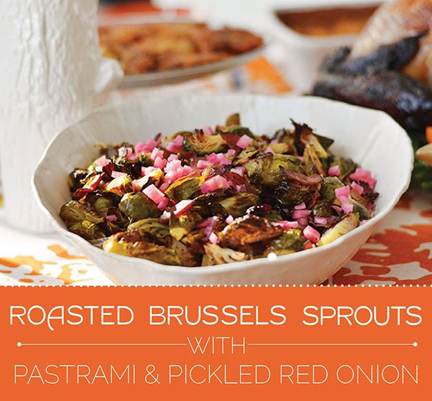 How To Make Roasted Brussels Sprouts With Pastrami For Thanksgivukkah