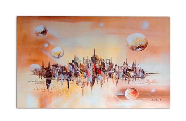 """Obraz ,,Kosmiczne Miasto"""", Deco Panel... - 65 zł/szt. Poleca sklep internetowy http://www.feeby.pl"""