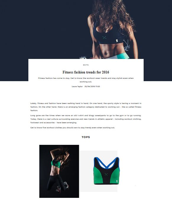 Fitness fashion trends for 2016 | UNIKSTORE Blog