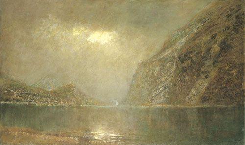 Mednyánszky, László Riverside with Rocks  C. 1905