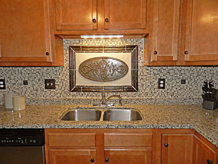 22 best decorative backsplash over cooktop images on - Mosaic designs for kitchen backsplash ...