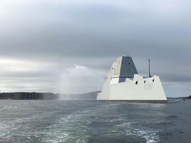 USS Zumwalt on Sept. 7, 2016. BIW Photo