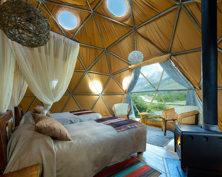 Stay in a cozy geodesic dome at this amazing Patagonia retreat