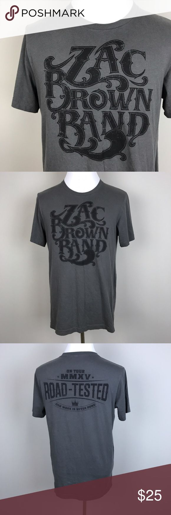 """[Zac Brown Band] Concert Tour Graphic T Shirt Mens Short sleeve graphic tee. Zac Brown Band. Southern Ground. Soft.  Pit to Pit: 21"""" Length: 28"""" Condition: Excellent pre-owned condition.  *H61 Southern Ground Shirts Tees - Short Sleeve"""