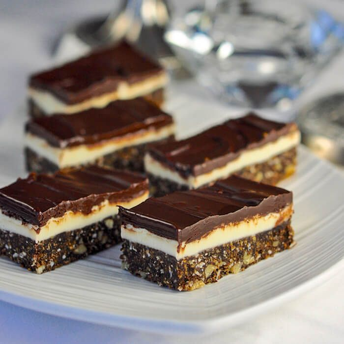 These delectable, no-bake Chocolate Mint Nanaimo Bars are a twist on a classic Canadian treat that originated in its namesake town in British Columbia.