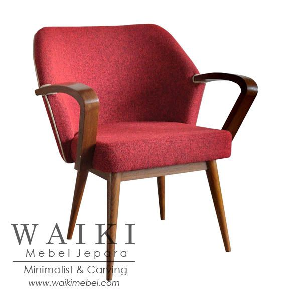 Sejengki Chair - Model kursi retro vintage 1950. Waiki Mebel produsen furniture model retro scandinavia vintage Jepara teak furniture at factory price.