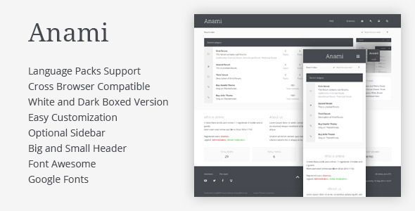 Anami - #Responsive Premium Template #phpBB 3.1 #PhpBB-Forums #html5 #css3 via @medosadvert
