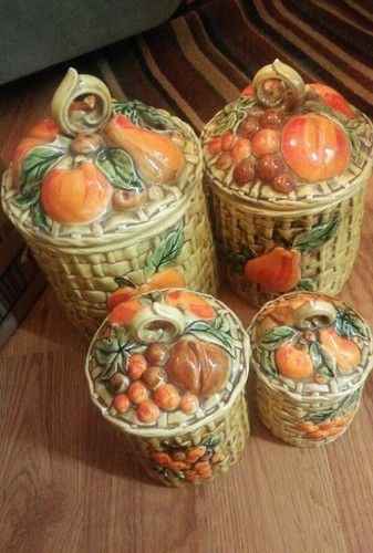 1000 Images About Ceramic Canister Sets On Pinterest