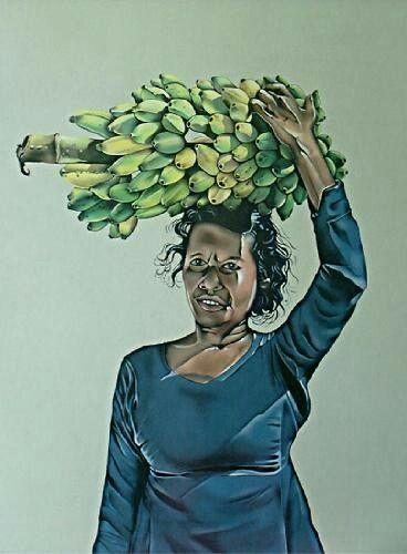 Banana woman by Hussein Ali Manik.