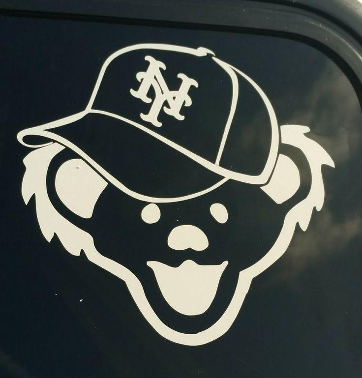 Grateful Dead New York Mets decal,jerry bear,baseball hat,music sticker vinyl #Unbranded
