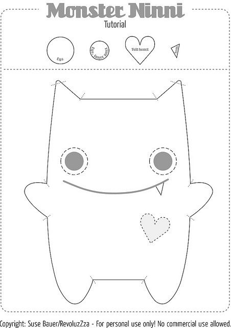 Cute pattern with tutorial...Everyone needs their own little monster to scare the Boogy man away!!!