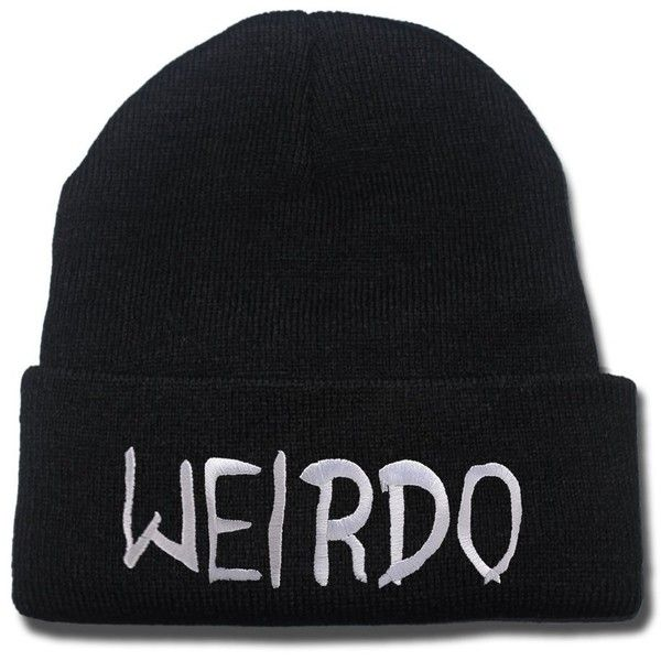Amazon.com: JRICK Weirdo Logo Beanie Fashion Unisex Embroidery Beanies... ($8.99) ❤ liked on Polyvore featuring accessories, hats, skull hat, beanie skull cap, beanie cap hat, embroidery caps and embroidered beanie hats